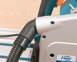 Имеет поворотный патрубок для подсоединения шланга пылеудаляющего аппарата.
