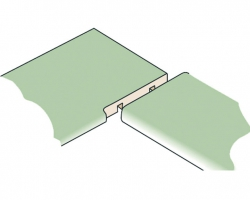 Угол соединения столешниц может быть 45º или 90º.