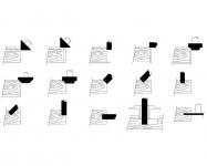 Примеры возможных способов обработки в зависимости от угла наклона привода и выбранного режущего инструмента.