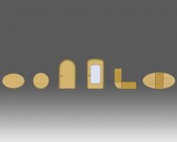 Овальный стол - Круглый стол - Радиусная часть дверной коробки - Овальная часть дверной коробки - Угловой элемент стола - Раздвижной круглый или овальный стол