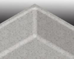 Результат обработки зоны стыка пристеночных бортиков и столешницы.